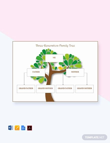 Editable Genogram Template Elegant Free Four Generation Genogram Template Download 58
