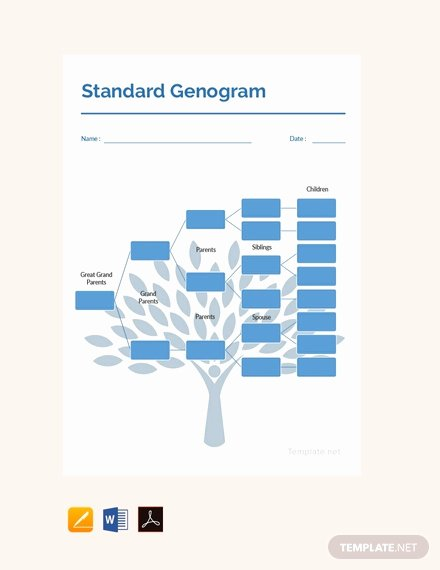 Editable Genogram Template Unique Free Blank Genogram Template Download 58 Family Trees In