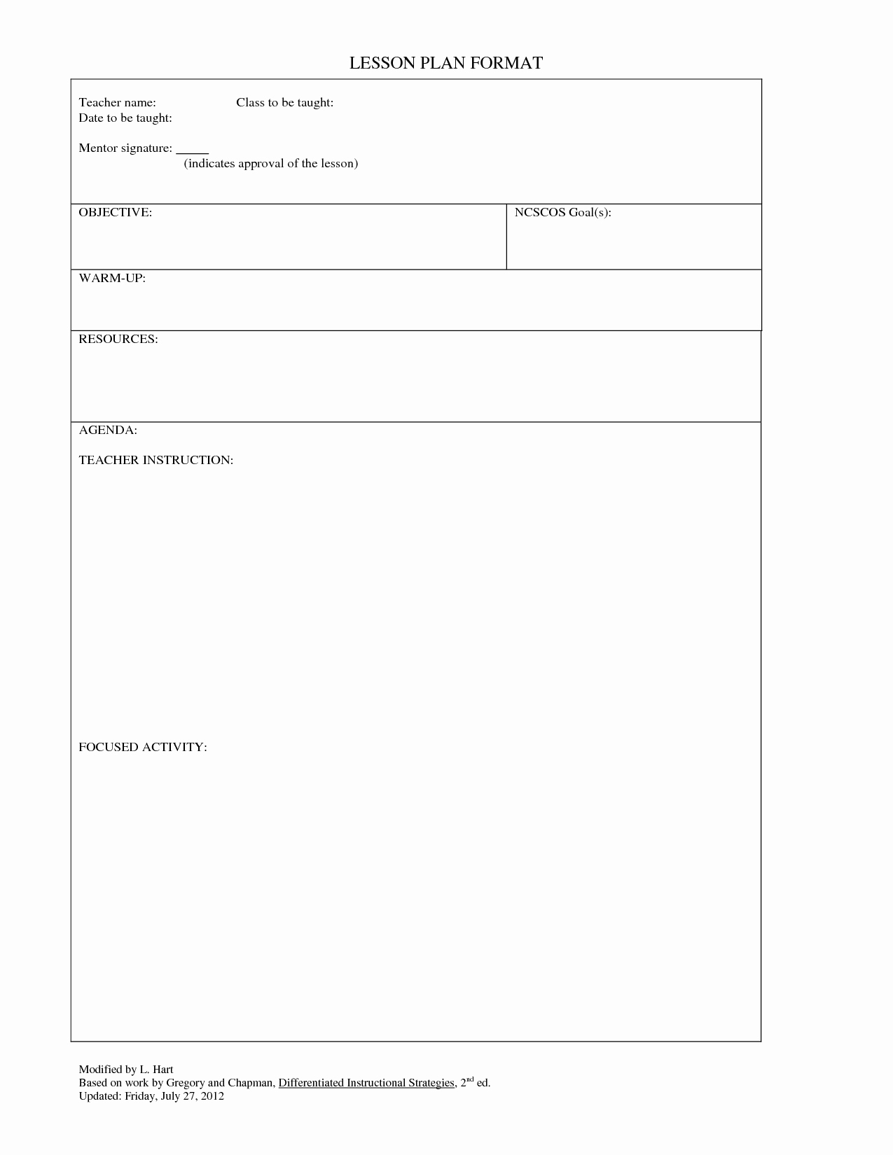 Editable Lesson Plan Template Awesome Blank Lesson Plan Template Lesson Plan for Gp Blank