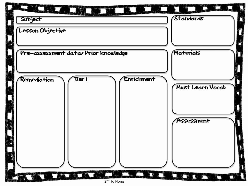 Editable Lesson Plan Template Lovely 2nd to None