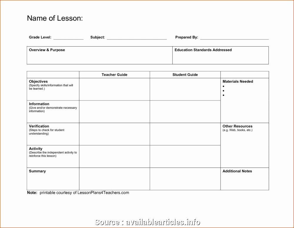 Editable Lesson Plan Template Lovely 6 Professional Free Editable Lesson Plan Templates