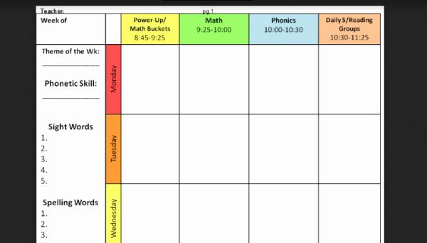 lesson plan templates