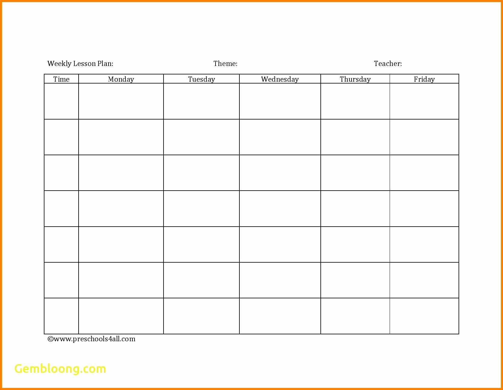 Editable Lesson Plan Template Unique 7 Editable Weekly Lesson Plan Template