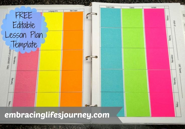 Editable Lesson Plan Template Unique Pin by Amanda Rodriguez On Classroom organization