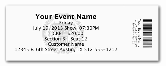 Editable Ticket Template Free Word Beautiful Elegant Admission Ticket Template Example with event Name