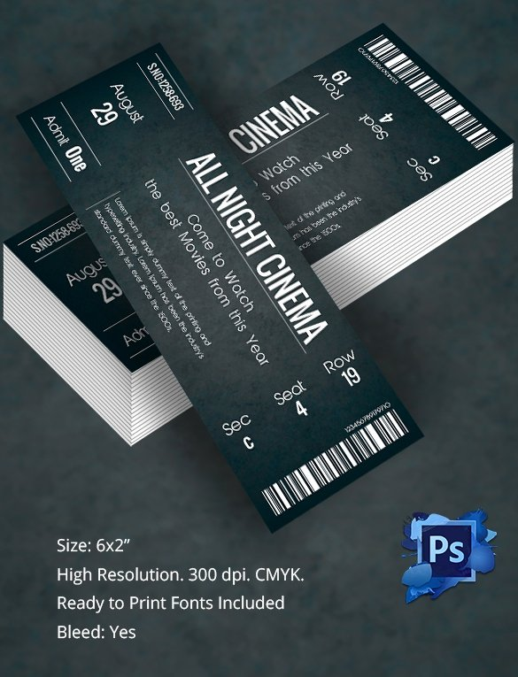 Editable Ticket Template Free Word Fresh Ticket Template – 91 Free Word Excel Pdf Psd Eps