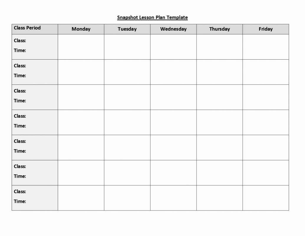 Editable Weekly Lesson Plan Template Beautiful Best S Free Printable Blank Preschool Lesson Plan