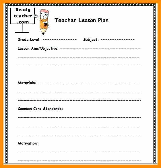 Editable Weekly Lesson Plan Template Best Of Editable Lesson Plan Template Word
