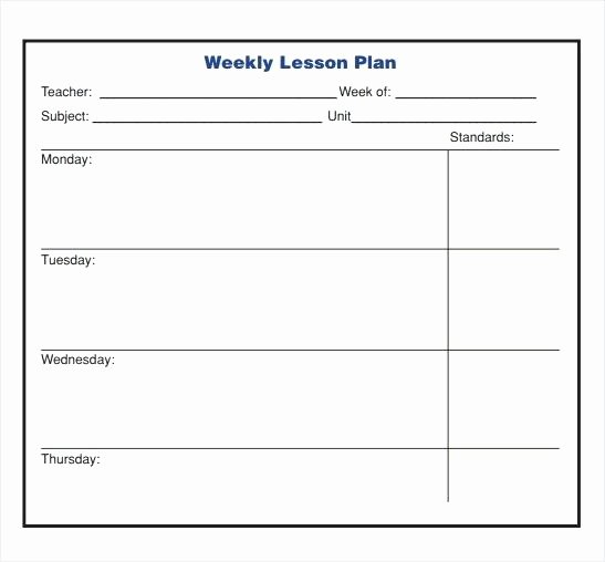 Editable Weekly Lesson Plan Template Elegant Blank Weekly Template Blank Weekly Calendars Printable