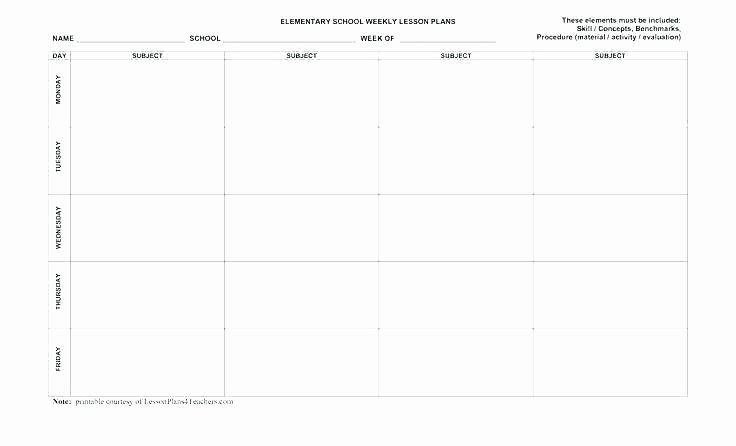 Editable Weekly Lesson Plan Template Elegant Lesson Plan Template Pdf Editable – Editable Weekly Lesson