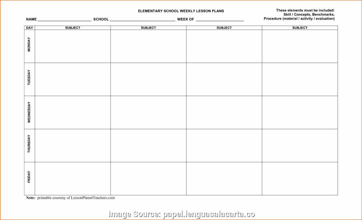 Editable Weekly Lesson Plan Template Unique Excellent Free Lesson Plan Template Editable Weekly Plans