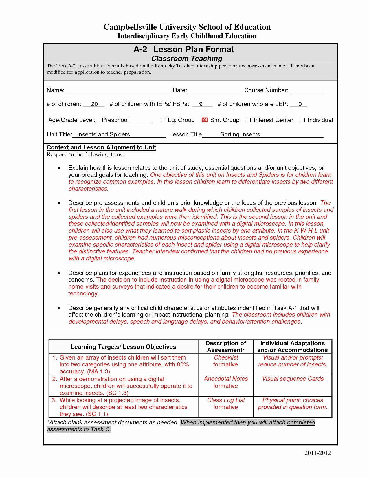 Edtpa Lesson Plan Template 2017 Beautiful Art Lesson Plans Template