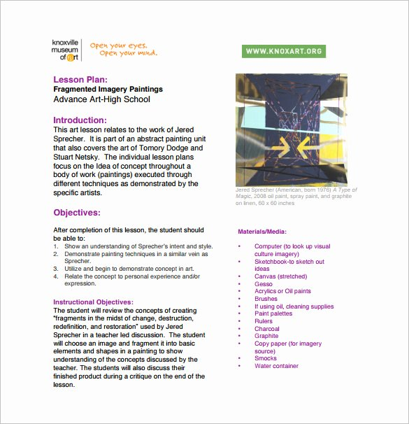 Edtpa Lesson Plan Template 2017 Best Of Art Lesson Plans Template Sarahepps