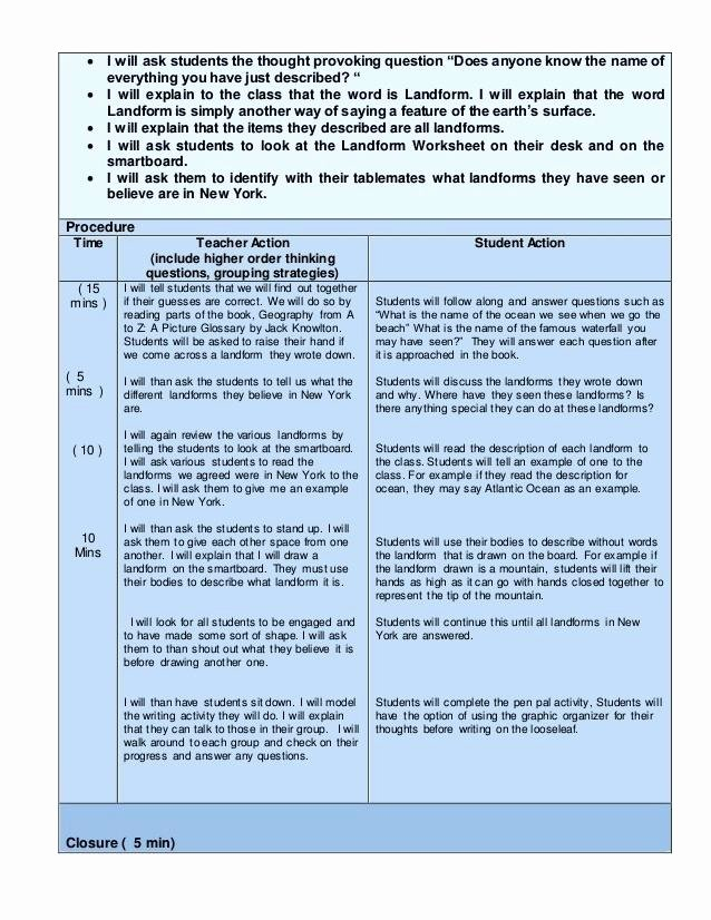 Edtpa Lesson Plan Template 2018 Awesome Edtpa Science Lesson Plan Lesson Plan Template Lesson Plan