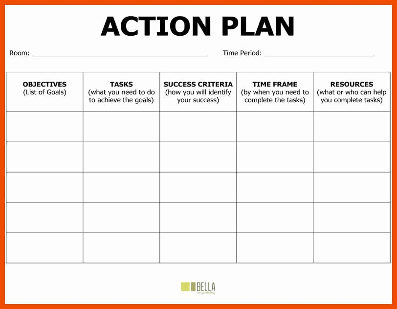 Educational Action Plan Template Elegant 6 7 Action Plan Example