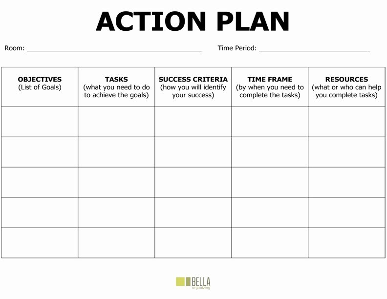 Educational Action Plan Template Luxury Action Plan Template