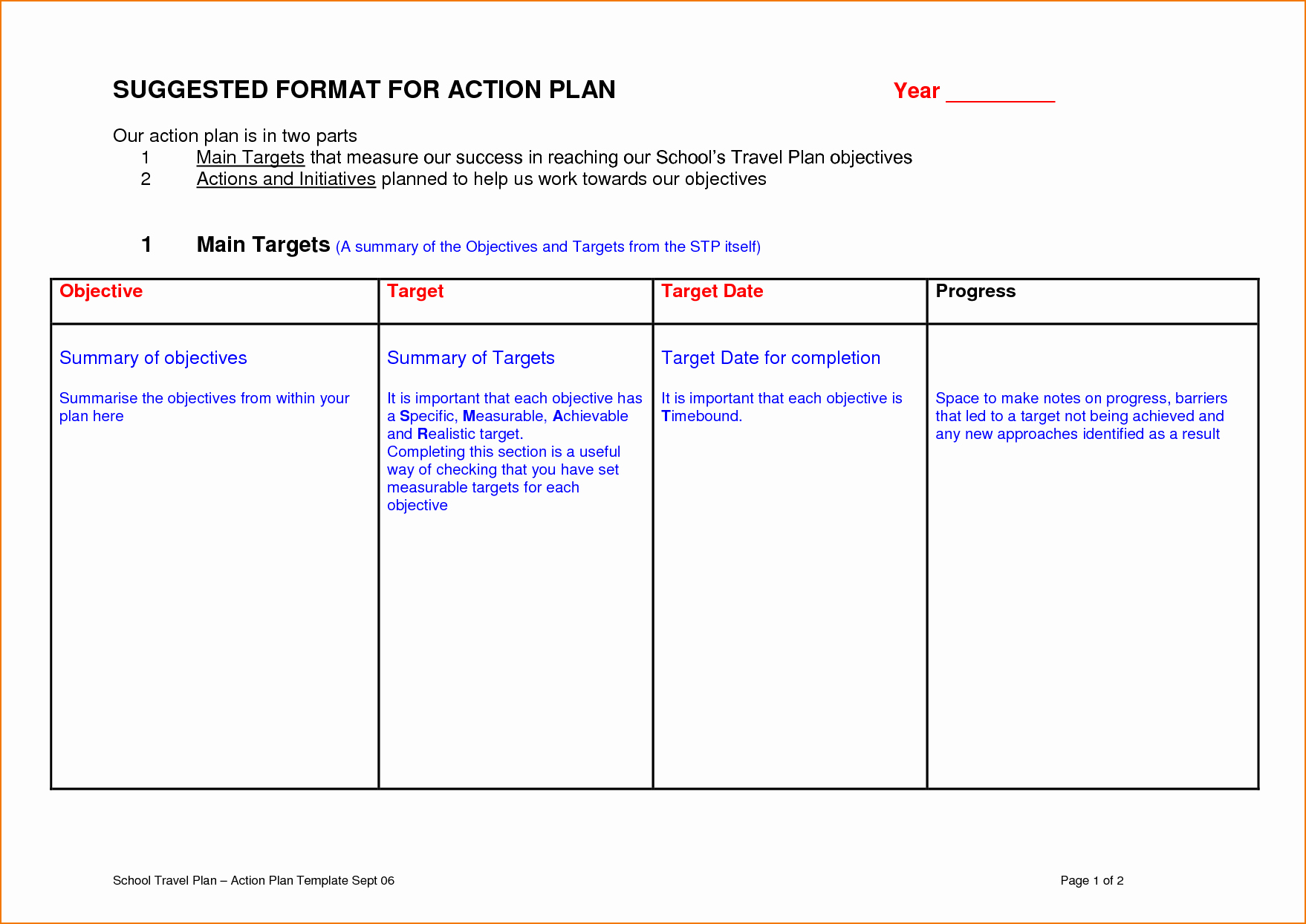 Educational Action Plan Template New 6 Sample Action Plan Template