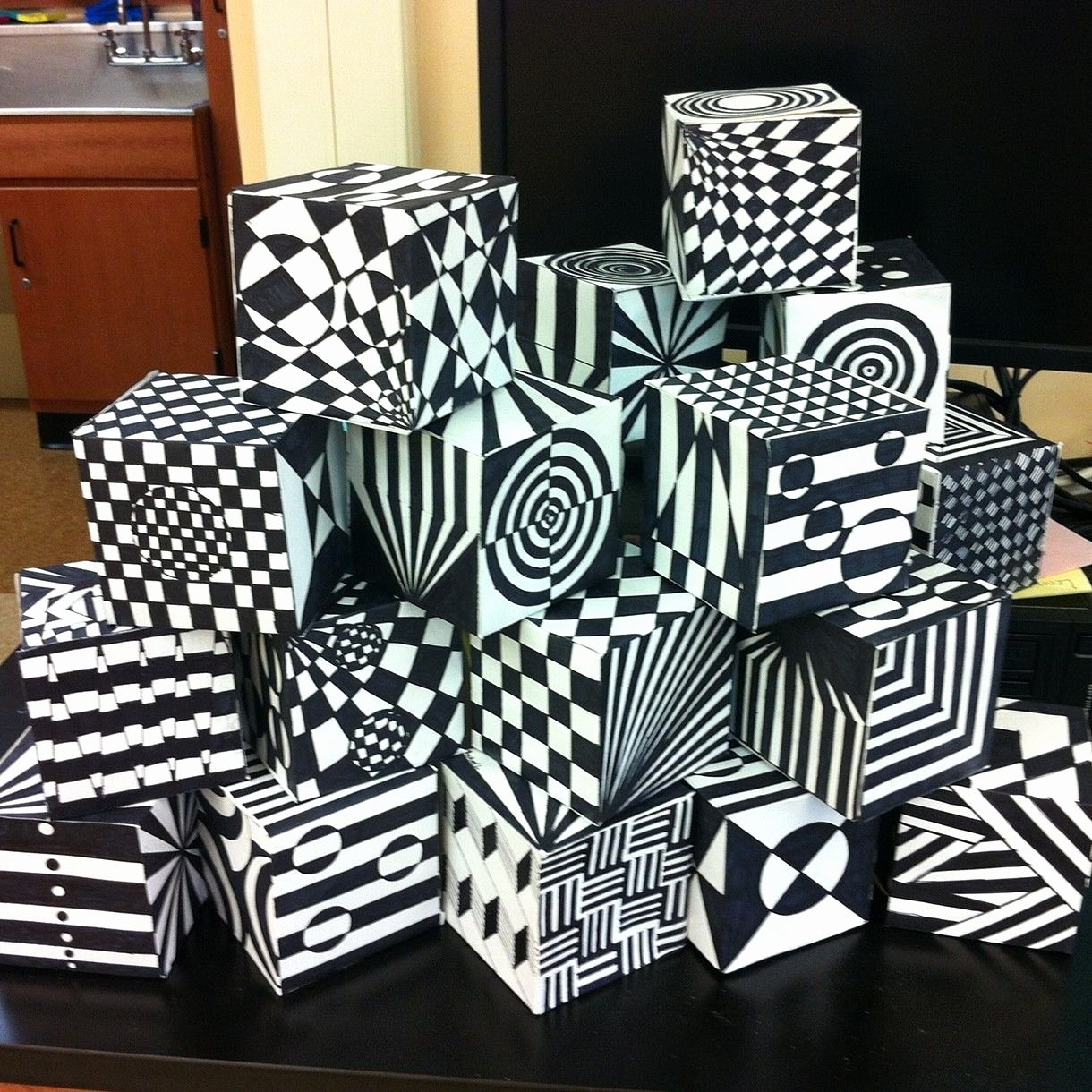 Elementary Art Lesson Plan Template Beautiful Op Art Cube Template Google Search