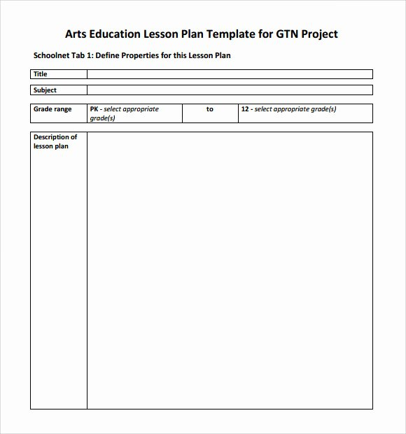 Elementary Art Lesson Plan Template Elegant Sample Art Lesson Plans Template 7 Free Documents In Pdf