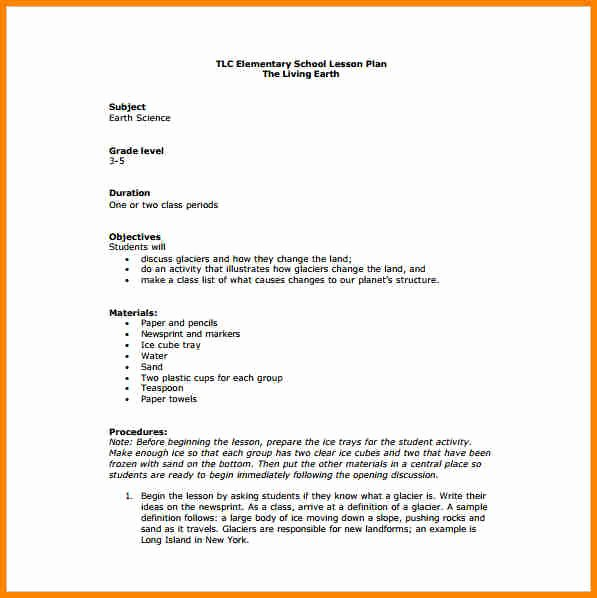Elementary Lesson Plan Template Awesome 11 Elementary Lesson Plan Template