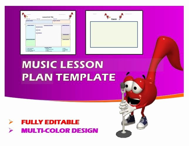 Elementary Music Lesson Plan Template Luxury 34 Best Educational Templates Images On Pinterest