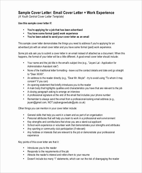 Emailed Cover Letter format Awesome 9 Best Cover Letter Samples