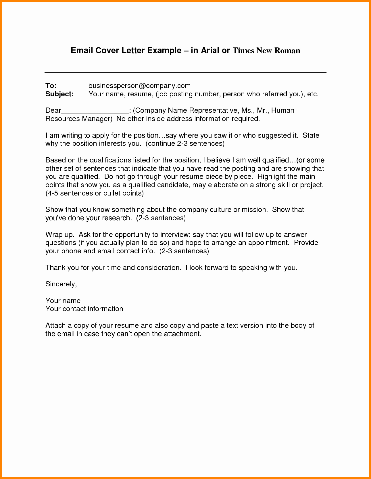 Emailed Cover Letter format Best Of 6 Email Cover Letter Templates