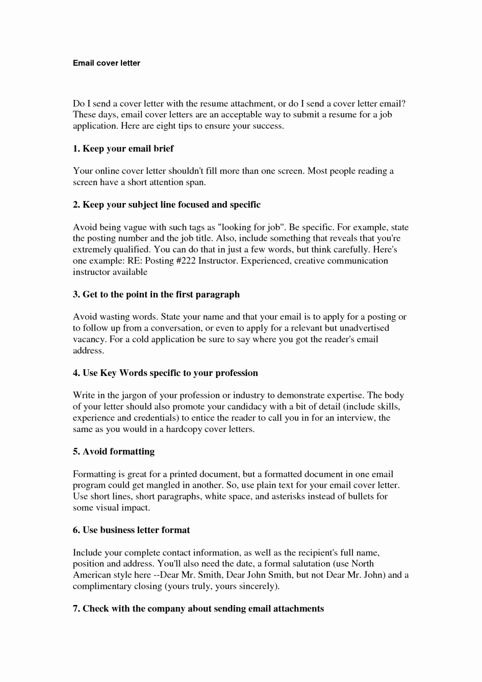 Emailed Cover Letter format Best Of Resume Cover Letter Email Sample – Perfect Resume format