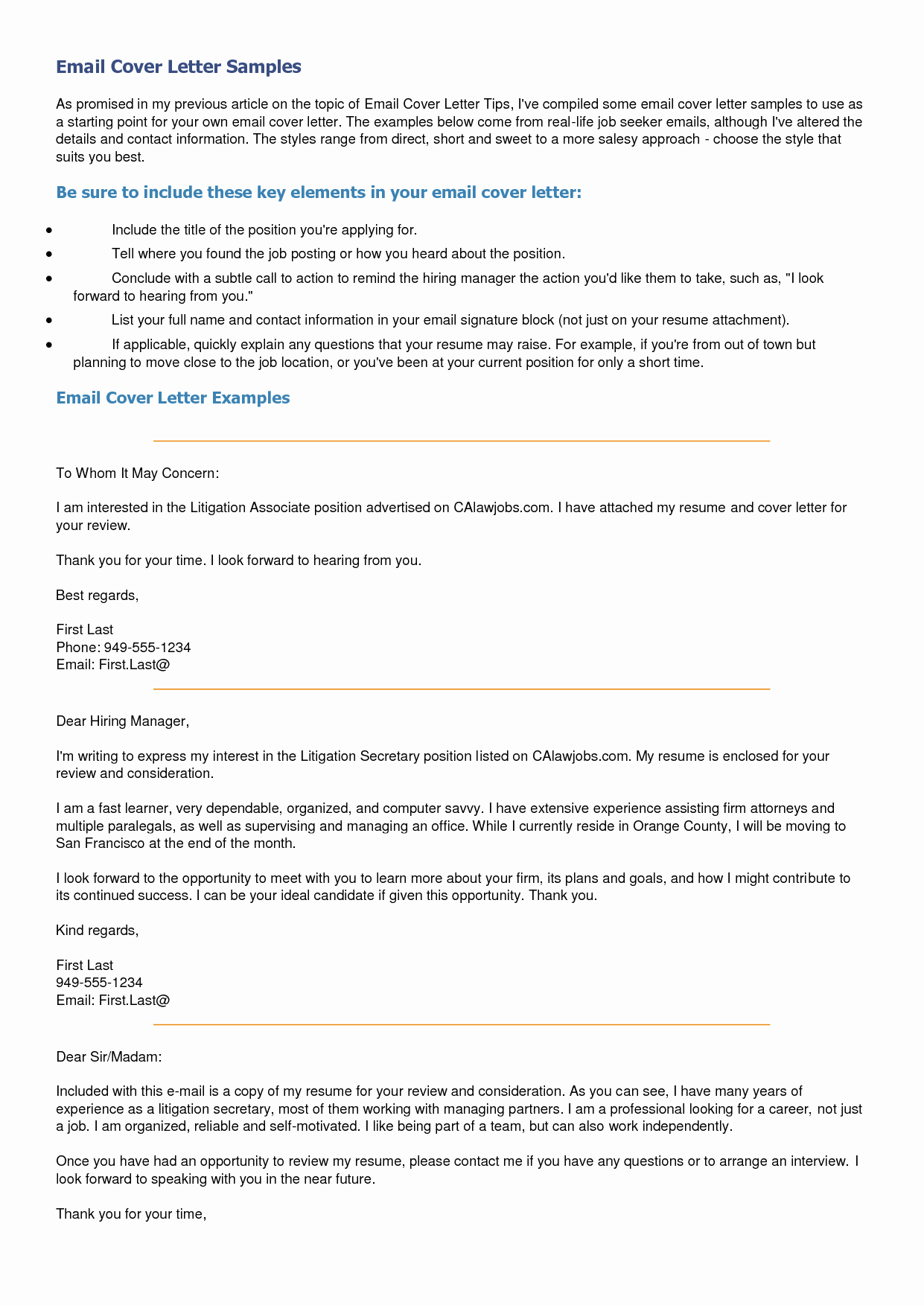 Emailed Cover Letter format Unique 12 Tips for Better Email Cover Letters