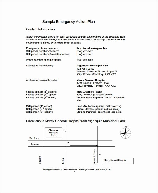 Emergency Action Plan Template Beautiful 7 Emergency Action Plan Samples Examples & Templates
