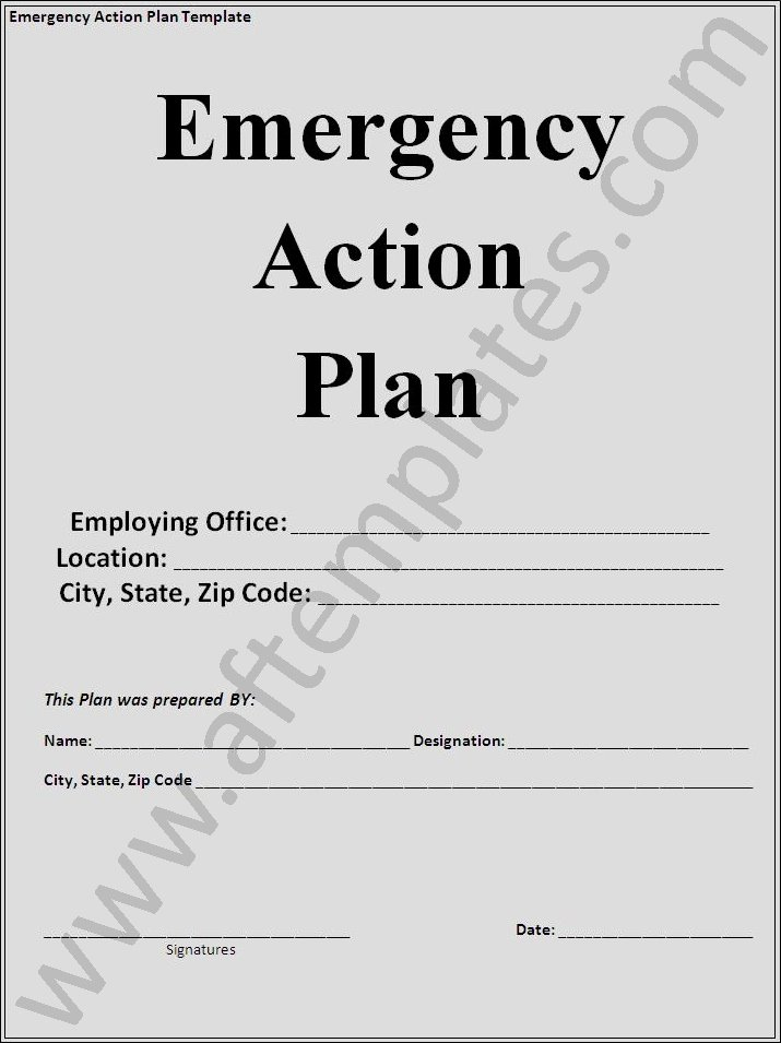 Emergency Action Plan Template Fresh Action Plan Template
