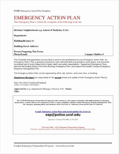 Emergency Action Plan Template Luxury 10 Printable Emergency Action Plan Examples Pdf