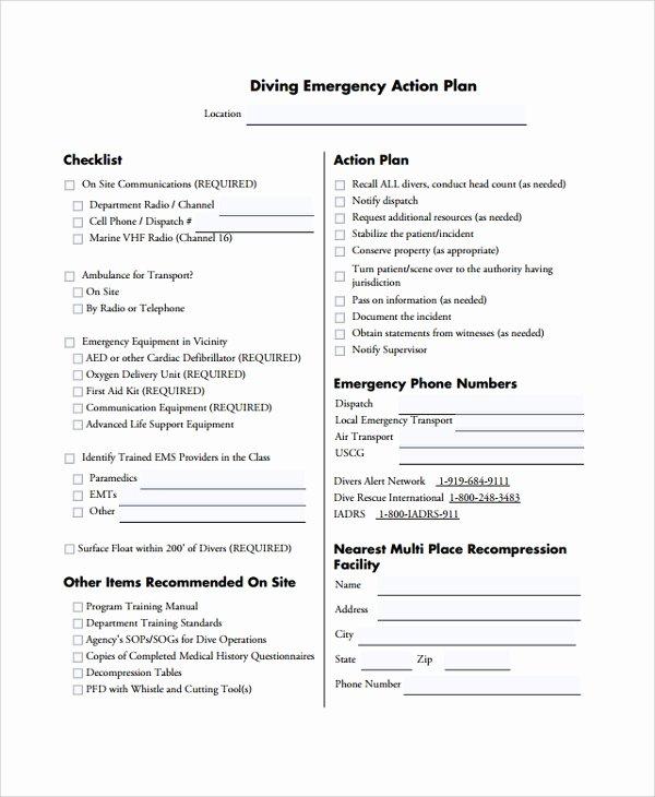 Emergency Action Plan Template Unique 7 Emergency Action Plan Samples Examples & Templates