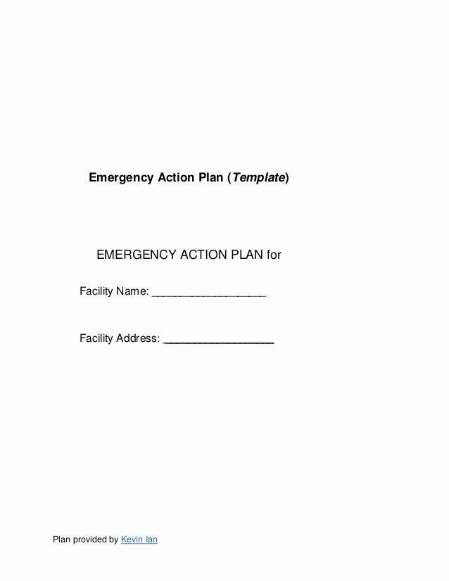 Emergency Action Plan Template Unique Emergency Action Plan Template