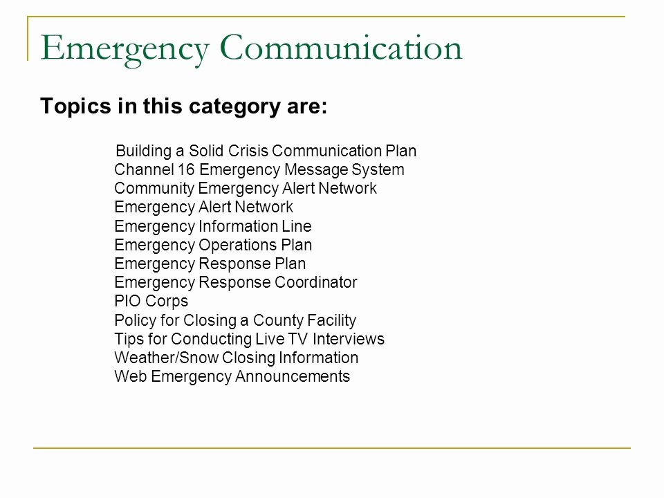 Emergency Communication Plan Template Beautiful An Introduction to the Fairfax County Munication