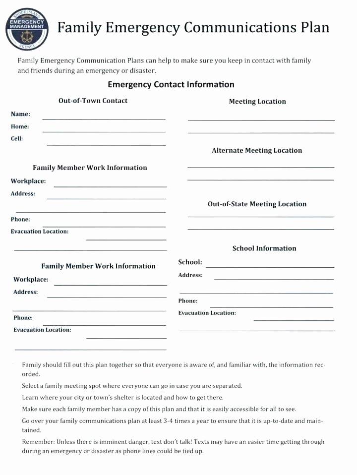 Emergency Communication Plan Template Luxury Emergency Radio Munications Plan Template Response