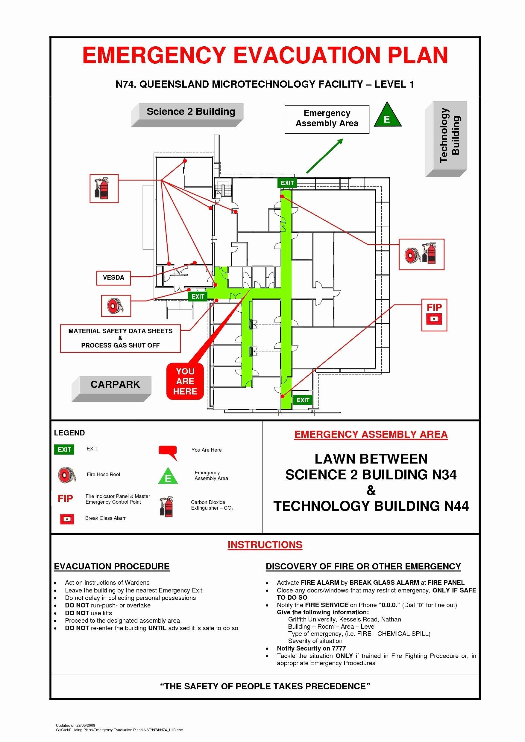 Emergency Evacuation Plan Template Beautiful Business Emergency Plan Template – Emergency Response Plan