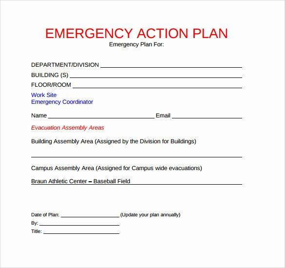 Emergency Evacuation Plan Template Elegant 11 Sample Emergency Action Plan Templates