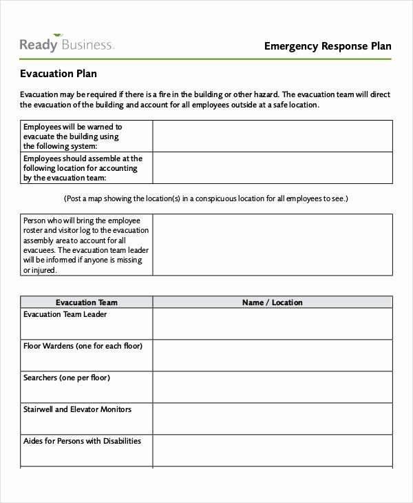 Emergency Evacuation Plan Template Elegant 29 Emergency Plan Examples Word Google Docs Apple