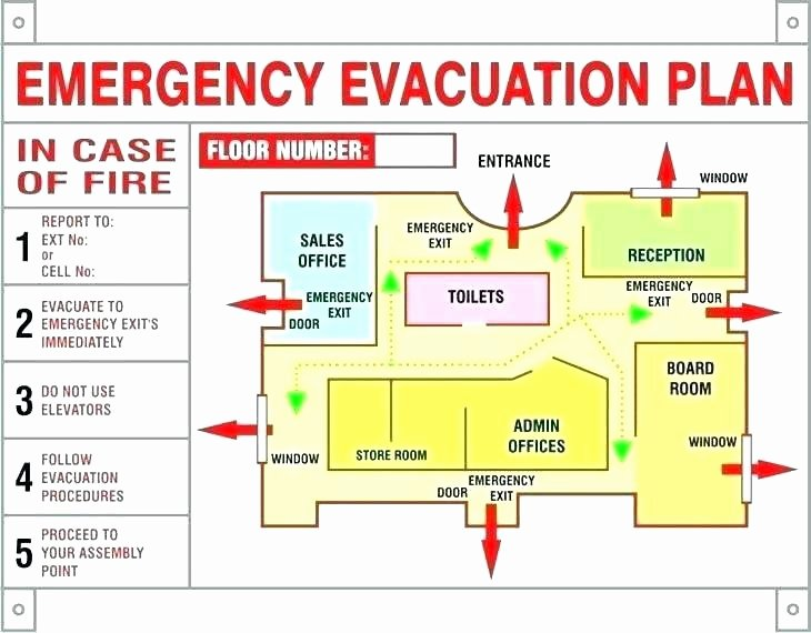 Emergency Evacuation Plan Template Free Lovely Emergency Action Plan Template Fire Evacuation Free
