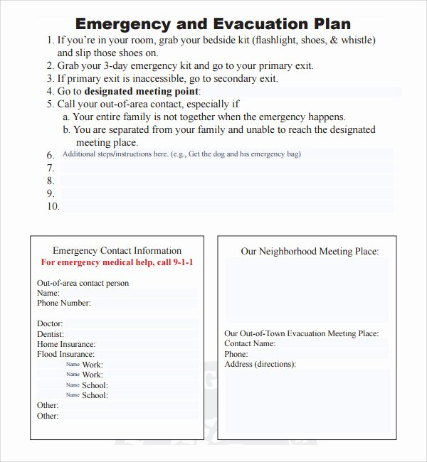 Emergency Evacuation Plan Template Free Luxury 10 Evacuation Plan Templates
