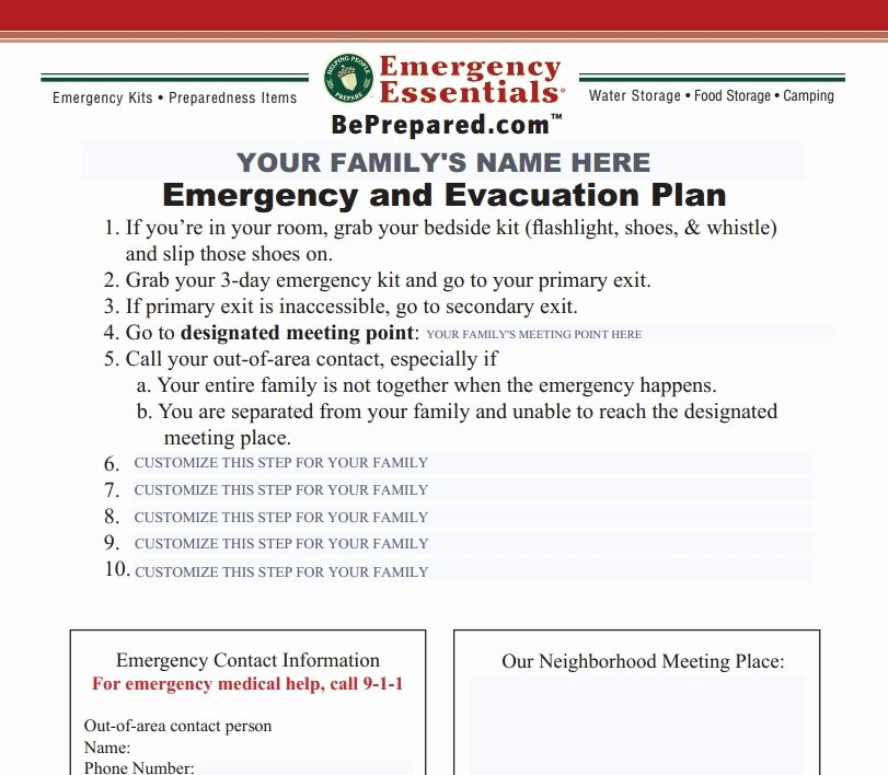 Emergency Evacuation Plan Template Free New Emergency Evacuation Checklist Template Templates