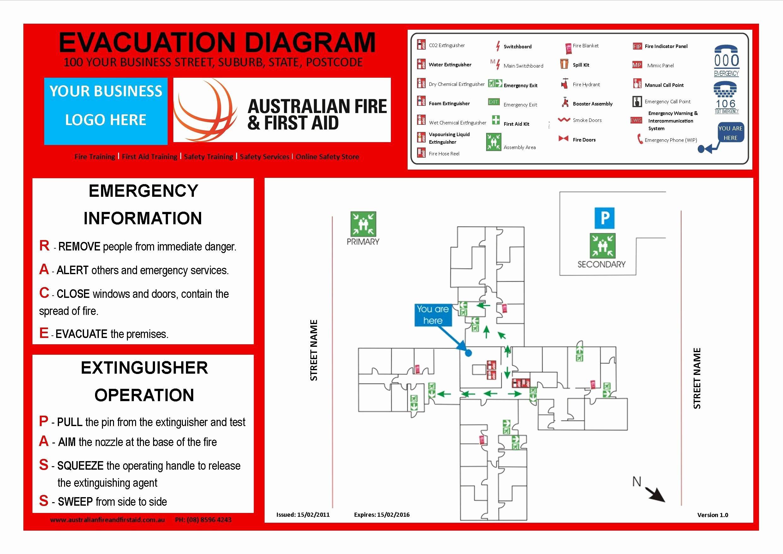 Emergency Evacuation Plan Template Inspirational Emergency Evacuation Template Australia Templates