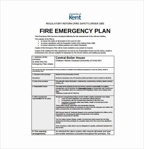 Emergency Evacuation Plan Template Luxury 14 Emergency Plan Templates Free Sample Example