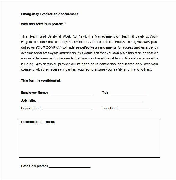 Emergency Evacuation Plan Template New Emergency Evacuation Plan Template Pdf Templates
