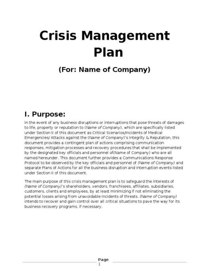 Emergency Management Plan Template Awesome Free Munication Strategy Templates and Samples