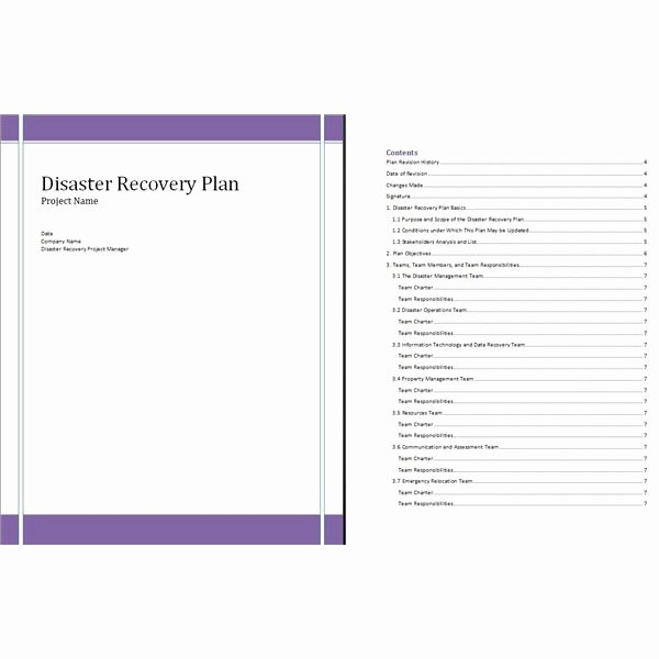 Emergency Management Plan Template New Free Disaster Recovery Plan Template for Project Managers