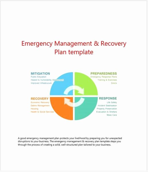 Emergency Management Plan Template Unique Templates forms and Worksheets