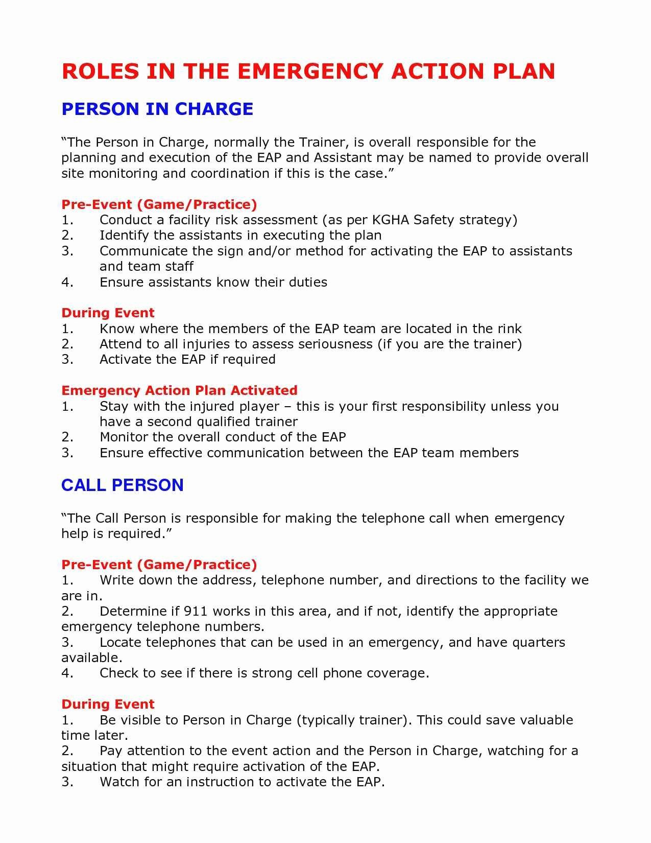 Emergency Operations Plan Template Inspirational Elegant Emergency Operations Plan Template California