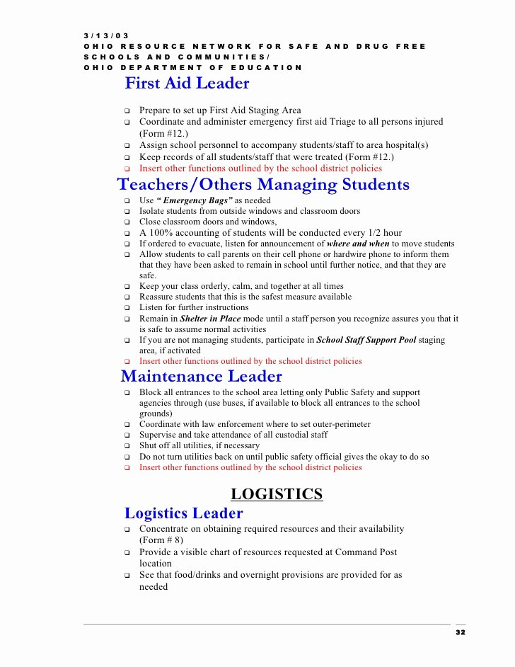 Emergency Operations Plan Template New Emergency Operation Plan Template Erieairfair